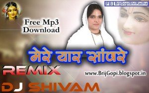 Mere Yaar Saanware Best Krishna Remix Bhajan Full Lyrics By